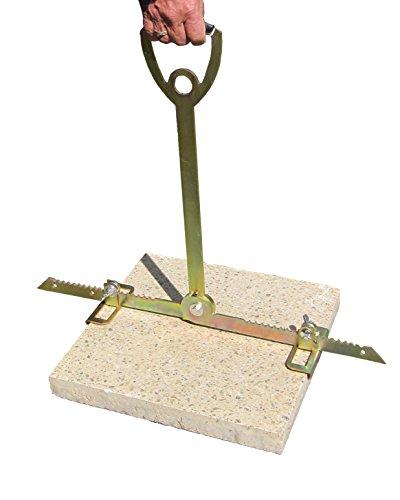 ViD Plattenheber - Rückenfreundlich durch extra langen Griff - 30 bis 62cm - Tragkraft bis zu 70 kg - Made in Germany