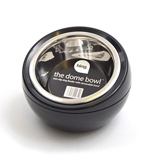 Futternapf DOME BOWL für Hunde und Katzen - Tiernapf Freßnapf Futterstation - 450 ml Futtermenge - Maße 17 x 17 x 12 cm - Farbe: Schwarz (Fließendes Wasser Katze Schüssel)