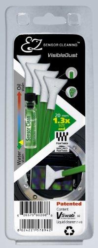 VisibleDust grüne Serie EZ Sensor Cleaning Kit - 4X VSwabs 1.3X und 1ml Sensor Clean Visible Dust Swabs