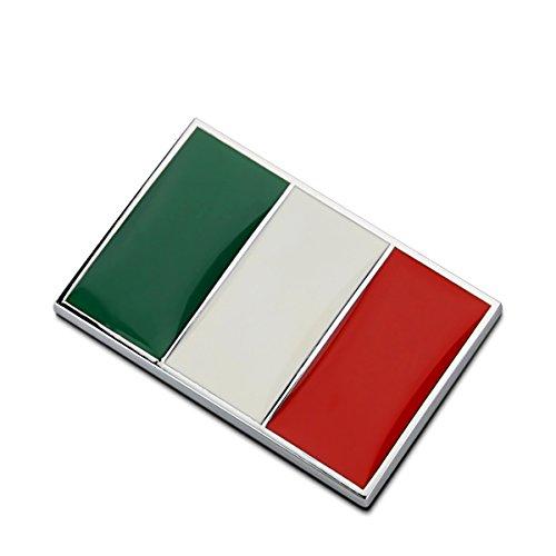 Dsycar 1 Stücke 3D Metall Italien Flagge Auto Seitenfender Kofferraum Emblem Abzeichen Aufkleber Auto Styling (Italien) -