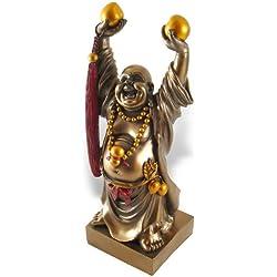 Grand Bouddha Rieur - Chance, Bonheur et Santé - Décoration Asiatique - 27 cm de Hauteur