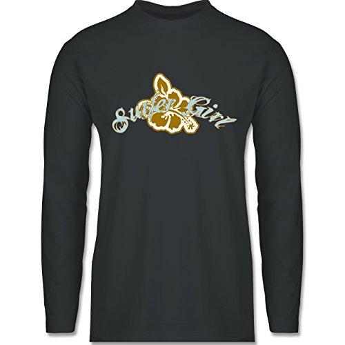 Wassersport - Surfer Girl - Longsleeve / langärmeliges T-Shirt für Herren  Anthrazit