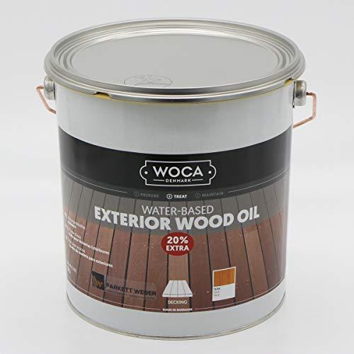 Woca Exterior Öl Teak - 3 Liter - Terrassenöl Jubiläumsangebot -