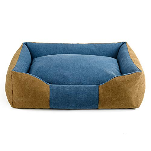 CPP Dickes Segeltuch Haustier-Bett-Welpen-Kätzchen-Waschbares Haustier-Bequemes Nest-Rechteck-Haustier-Bett-Kissen-Entfernbares Kissen,Tan,40 * 30Cm -