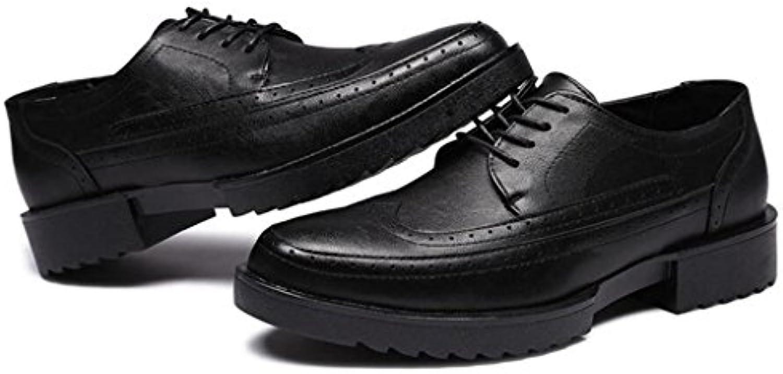 GAOLIXIA Bullock Herrenschuhe Plattform Freizeitschuhe Business Arbeit Professionelle Schuhe Outdoor Bequeme Wanderschuhe