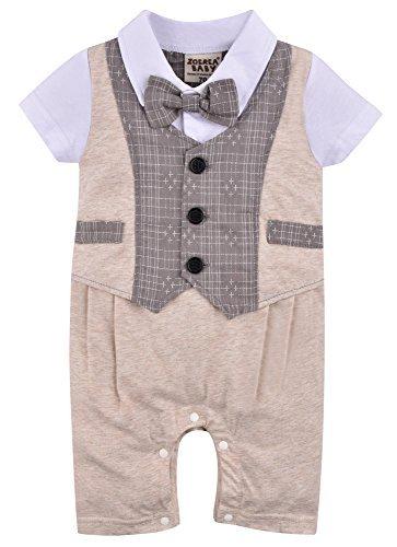 Zoerea 1pc Kinder Baby Kleinkind Junge Kleidung Spielanzug Bodysuit Kleidung Gentleman Gesamtkind Sommer Kleidung Baumwolle Kurzarm Druck Babys Babys