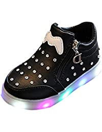 Karikatur Sport Beschuht LED Beleuchtung Mädchen Schuh Weiche Untere Bogen Knoten Kristall Schuh Reißverschluss Oder Klett Art Und Weiseschuhe
