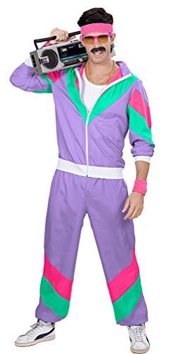 Preisvergleich Produktbild Karneval-Klamotten 80-er Jahre New Kids Assi Proll Kostüm 80-er Jahre Kleidung Herren-Kostüm Assi Proll Joggingjacke Jogginghose Größe 50