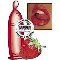 Secura Red Sin, Color-Kondome mit Aroma und Erdbeergeschmack, 50 Stück preisvergleich bei billige-tabletten.eu