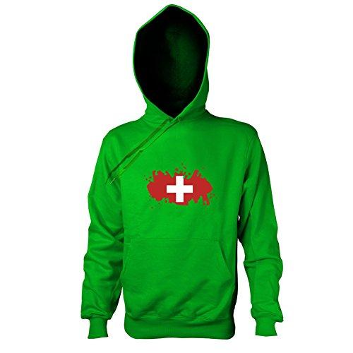 TEXLAB - Splash Schweiz - Herren Kapuzenpullover, Größe XXL, (Maskottchen Kostüme Pro)