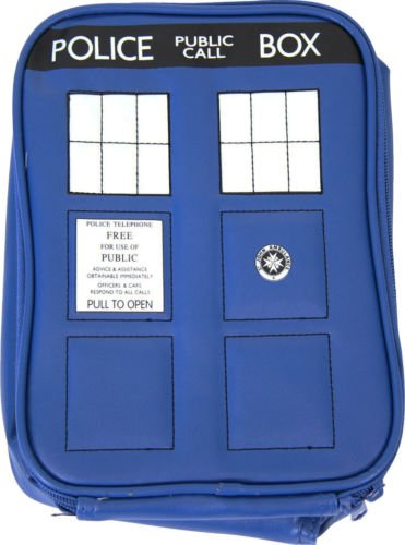 Adult Blue TV Show Doctor Who Police TARDIS Navy Insulated Lunchbox Cooler (Who Supplies Dr Party)