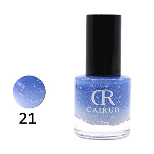 12ml Temperaturänderung Nagellack Farbtemperaturregelung Nagelöl Farbe viele Farben UV Nagellack, Gel Polnisch reine 12ML semi permanente Maniküre UV-Nagel saugen DIY Set Lack -