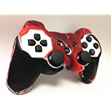 Two Pieces Set 2x Brand New High Quality Playstation Ps3 Remote Controller Silicon Protective Skin Case Cover Red Black Mix Color