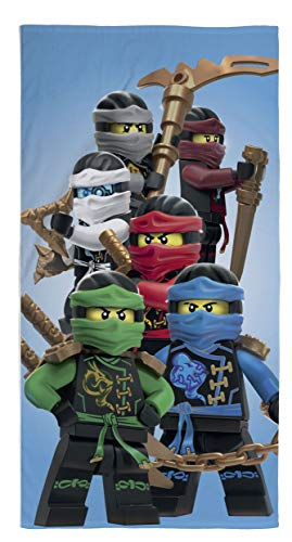 (Lego Ninjago Movie Duschtuch Badetuch Handtuch Strandtuch Velourstuch 70 x 140cm Lloyd Kai Zane)