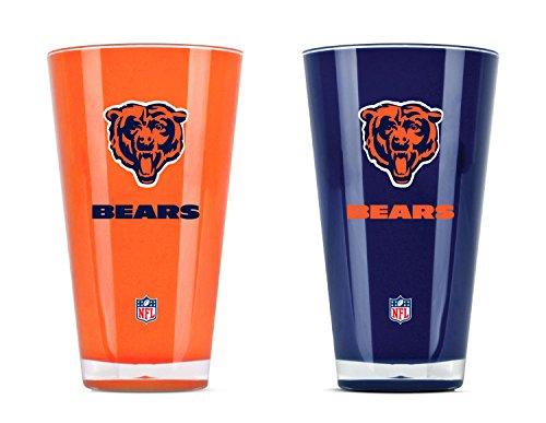 Duck House NFL Set von zwei 20Unze Tumbler, unisex, Chicago Bears - Zwei 2-unze-gläser