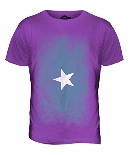 CandyMix Somalia Verblichen Flagge Herren T Shirt Violett