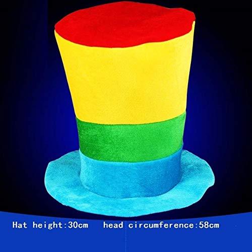 YUYUUU Männer Frauen Lustige Clown Hut Bühne Leistung Kostüm Erwachsene Halloween Karneval Party Caps Top Hut Geburtstagsgeschenk, 10
