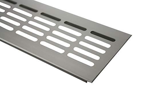 Aluminium Lüftungsgitter Stegblech Lüftungssieb Edelstahl eloxiert 80x300mm