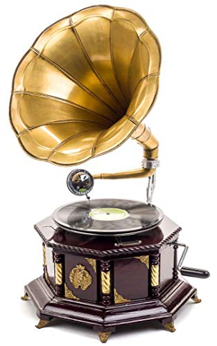 Gramófono estilo antiguo con bocina - Para discos de 78 RPM - 70 cm