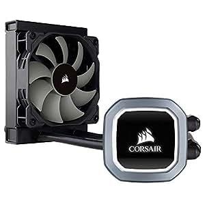 Corsair Hydro H60 2018 All-in-One Liquid CPU Cooler Sistema di Raffreddamento a Liquido per CPU, Ventola PWM Singola Bianca LED, Radiatore da 120 mm, Nero