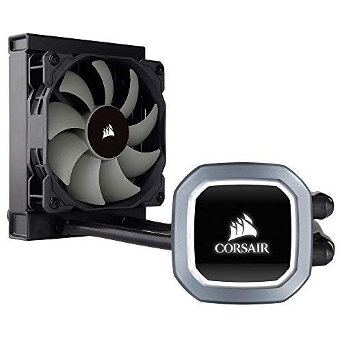 Corsair Hydro H60 2018 All-in-One Liquid CPU Cooler Sistema di Raffreddamento a Liquido per CPU, Ventola PWM Singola Bianca LED, Radiatore da 120 mm, Nero