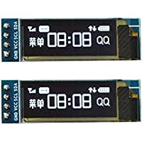 "diymore 0.91""Inch IIC I2C OLED LCD 12832128x 32pantalla DIY Memoria SSD1306controlador IC DC 3.3V 5V STM32para Arduino PIC"