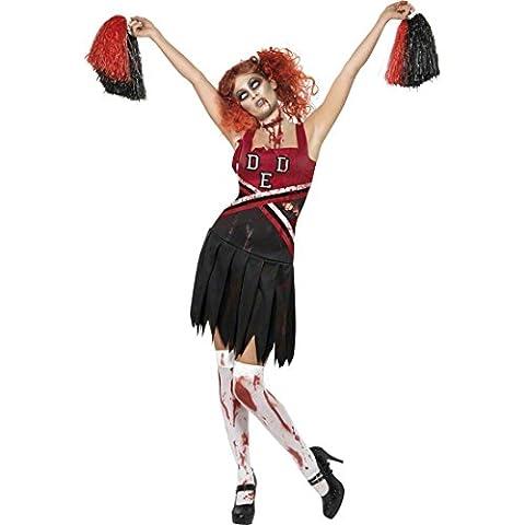 Halloween Cheerleader Costumes Adultes - Uniforme de pompom girl zombie pour Halloween