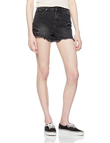 New Look Damen Slim Short MOM, schwarz (Black Pattern), Gr. 36 (Herstellergröße: 8)