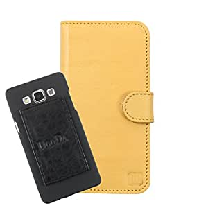 DooDa Genuine Leather Wallet Flip Case Cover With Card & ID Slots For Spice Stellar Horizon (Mi-500) - Back Cover Not Included Peel And Paste