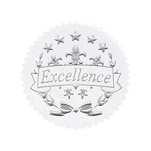 96Award Aufkleber-Silber Zertifikat Dichtungen, Excellence Star Aufkleber für Award ZERTIFIKATE (Gold-folie-zertifikat Dichtungen)