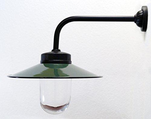 Außenleuchte nach historischem Modell Gartenlampe Hoflampe Außenlampe Landhausstil Modell Rottach dunkelgrün
