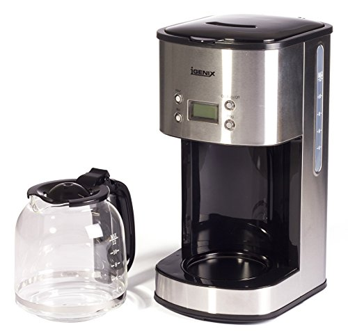 41TsvfP6DOL - Igenix IG8250 Digital Filter Coffee Maker, 12 Cup Carafe, Automatic 24 Hour Timer and Keep Warm Function, Removable…