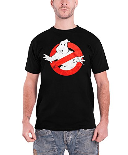 Officially Licensed Merchandise Ghostbusters Distressed Logo (Black) Schwarz