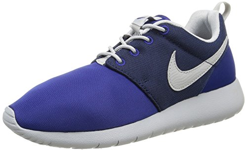 Nike Roshe One (Gs) Scarpe da Ginnastica, Unisex - Bambino, Multicolore (Dp Royal Blue/Wlf Gry-Mid Nvy), 36