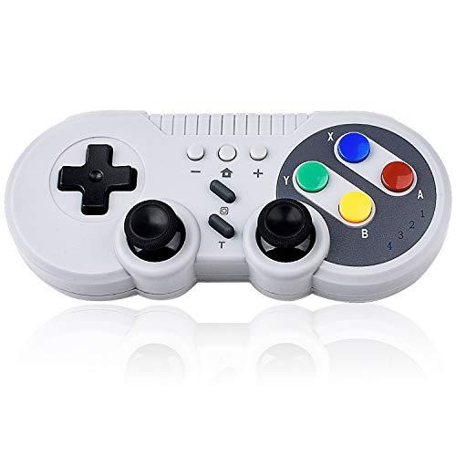 Bruphny Pro Game Controller für Nintendo Switch, Kabelloser Bluetooth Switch Controller, Wireless Gamepad Joystick mit Wiederaufladbarem Akku, Turbo Funktionen 6-Achsen Gyroskop für Nintendo Switch