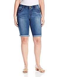 Democracy Women's Plus Size 13 inch (15 Uncuffed) Ab Solution Short