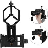 Outtybrave Soporte Adaptador Universal para teléfono – Compatible con telescopio y microscopio monocular Binocular, telescopio