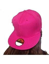 Plaine blanche chapeaux Snapback Unisex Men's Hip-Hop Casquette réglable bboy