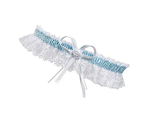 BrautChic XL XXL White Bridal Wedding Garter - PLUS SIZE