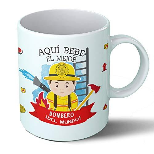 """Taza """"Aquí bebe el mejor bombero del mundo"""""""