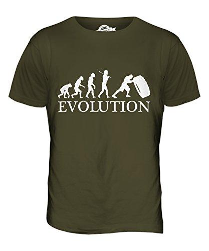CandyMix Tyre Reifen Flip Evolution Des Menschen Herren T Shirt Khaki Grün