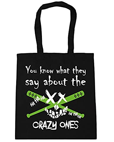 HippoWarehouse You Know What They Say About The Crazy Ones Tote Shopping Gym Beach Bag 42cm x38cm, 10 litres