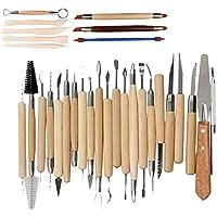 30 Pièces Outil Modelage Clay Sculpting Tools, Outil en Céramique Set Outils de Sculpture Outils Sculpture Modelage pour…