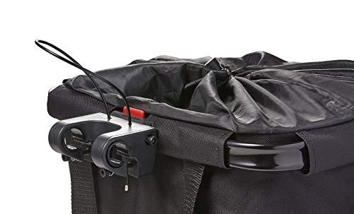 Fahrradkorb schwarz vorne Fahrradlenker Korb inkl Befestigungskit Fahrradtasche 36x25x27 cm