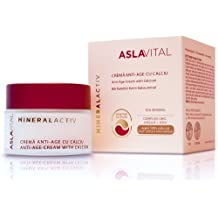 ASLAVITAL MINERALACTIV, Anti-Aging Cream With Calcium (With Clay and Goji Berry Organic Extract) by Farmec S.A (English Manual)