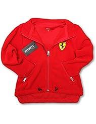Ferrari F1 equipo Kids rojo Scudetto cremallera frontal chaqueta de forro polar, Infantil, rojo, 2-3 años