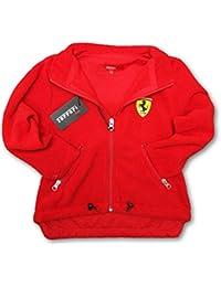 Ferrari F1equipo Kids rojo Scudetto cremallera frontal chaqueta de forro polar, Infantil, rojo, 7-8 años