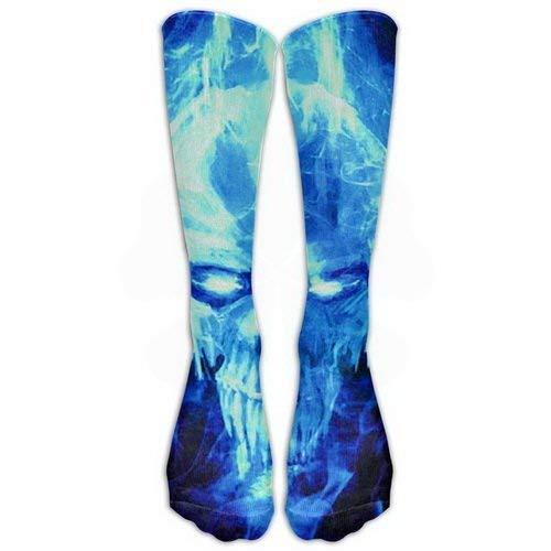 Crew Sports Novelty Warm Winter Knee High Socks Ice Fierce Skull Great Quality Men 1 Pair Long Tube Stockings for Running Jogging