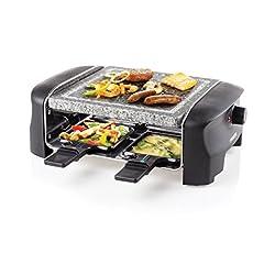 Idea Regalo - Princess 01.162810.01.001 Raclette con Grigliata di Pietra per 4 Persone