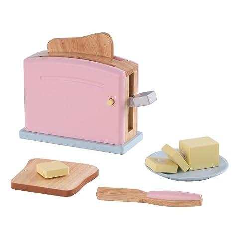 KidKraft 63304 - Pastellfarbenes Toaster Set (Küche Pretend Spielset)